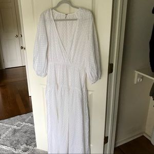 Free people white cotton maxi dress